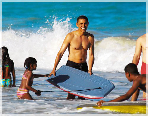 ... , Donald Trump discussed President Barack Obama's vacation plans
