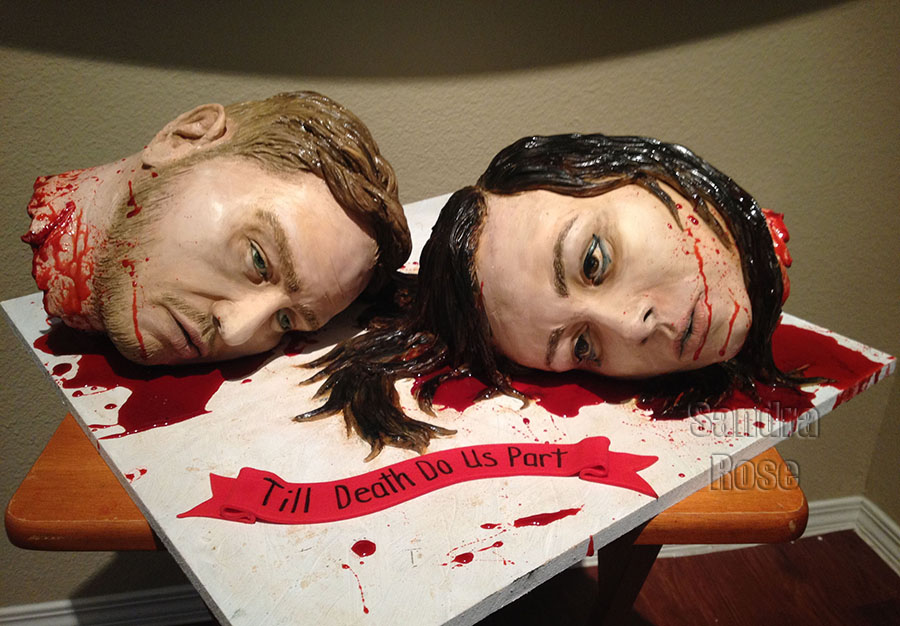 Gruesome wedding cake
