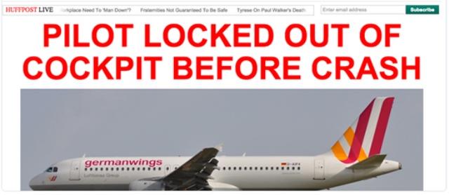 Germanwings Plane Crash Pilot Locked Out Of Cockpit Bbc News