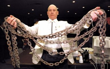 Chains Used to drag Byrd