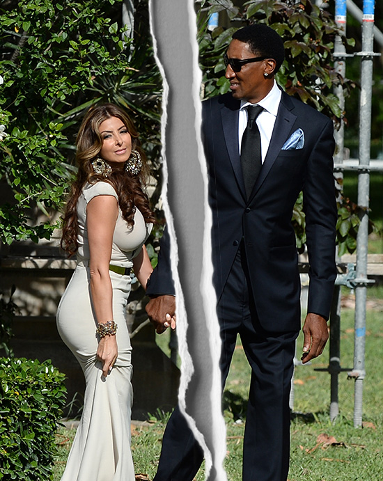 April 28, 2013: Celebrities arrive at Michael Jordan and Yvette Prieto's wedding in Palm Beach, Florida. Pictured here: Larsa Pippen, Scottie Pippen Mandatory Credit: INFphoto.com Ref: infusmi-15