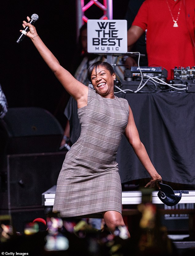 "Tiffany Haddish at ""Bring It Home Rally"""