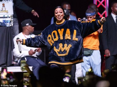 """Monica at """"Bring It Home Rally"""""""